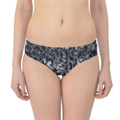 Gray Cubes Hipster Bikini Bottoms