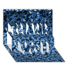 Blue Cubes THANK YOU 3D Greeting Card (7x5)