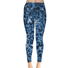 Blue Cubes Women s Leggings