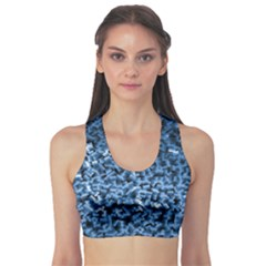 Blue Cubes Sports Bra