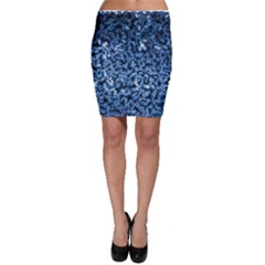 Blue Cubes Bodycon Skirts