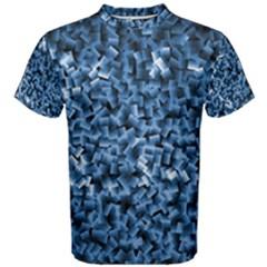 Blue Cubes Men s Cotton Tees