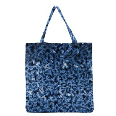 Blue Cubes Grocery Tote Bags