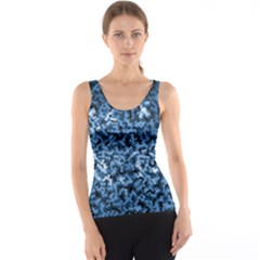 Blue Cubes Tank Tops