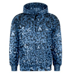 Blue Cubes Men s Zipper Hoodies
