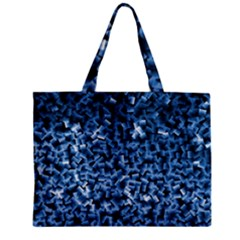 Blue Cubes Zipper Tiny Tote Bags