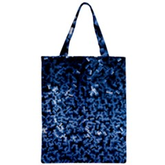 Blue Cubes Zipper Classic Tote Bags