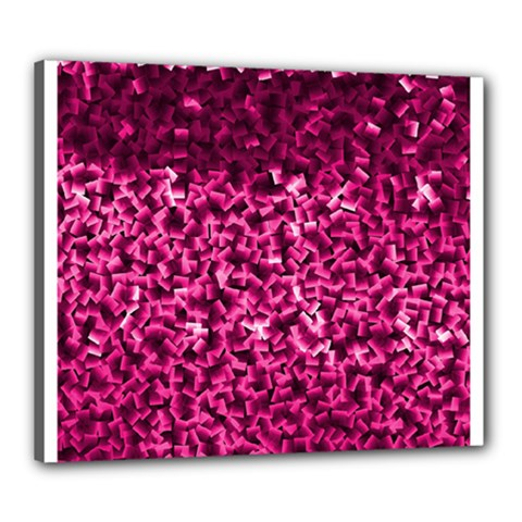 Pink Cubes Canvas 24  X 20