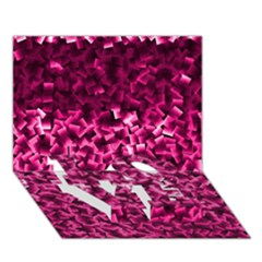 Pink Cubes Love Bottom 3d Greeting Card (7x5)