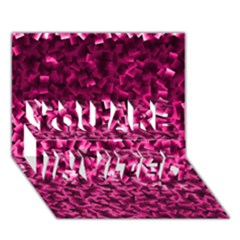Pink Cubes YOU ARE INVITED 3D Greeting Card (7x5)