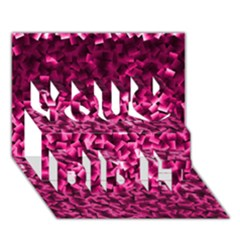 Pink Cubes You Did It 3D Greeting Card (7x5)