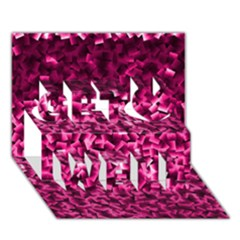 Pink Cubes Get Well 3d Greeting Card (7x5)