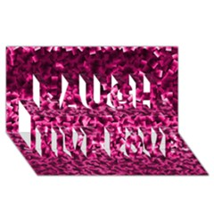 Pink Cubes Laugh Live Love 3D Greeting Card (8x4)