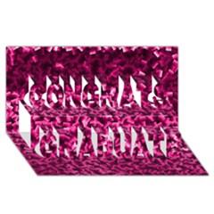 Pink Cubes Congrats Graduate 3d Greeting Card (8x4)