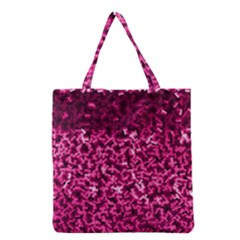 Pink Cubes Grocery Tote Bags