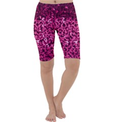 Pink Cubes Cropped Leggings