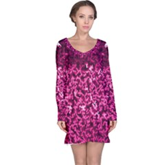 Pink Cubes Long Sleeve Nightdresses