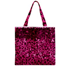 Pink Cubes Zipper Grocery Tote Bags