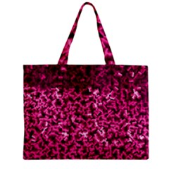 Pink Cubes Zipper Tiny Tote Bags