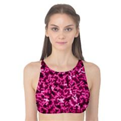 Pink Cubes Tank Bikini Top