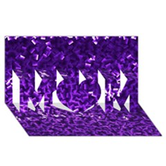 Purple Cubes MOM 3D Greeting Card (8x4)
