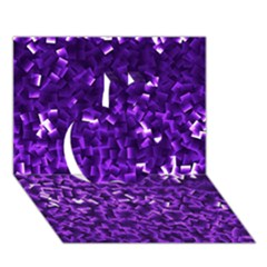 Purple Cubes Apple 3d Greeting Card (7x5)