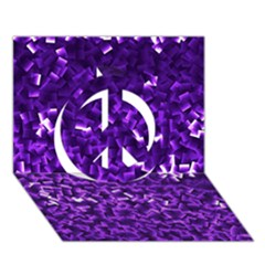 Purple Cubes Peace Sign 3D Greeting Card (7x5)