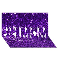 Purple Cubes #1 Mom 3d Greeting Cards (8x4)