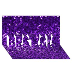Purple Cubes BEST SIS 3D Greeting Card (8x4)