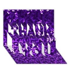 Purple Cubes Thank You 3d Greeting Card (7x5)
