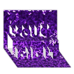 Purple Cubes You Did It 3d Greeting Card (7x5)