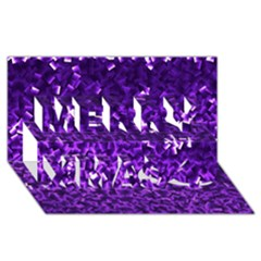 Purple Cubes Merry Xmas 3D Greeting Card (8x4)