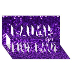Purple Cubes Laugh Live Love 3D Greeting Card (8x4)