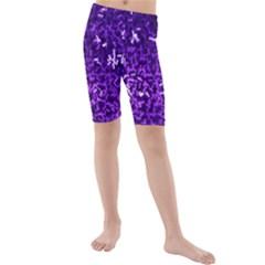 Purple Cubes Kid s swimwear