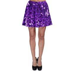 Purple Cubes Skater Skirts