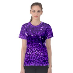 Purple Cubes Women s Sport Mesh Tees