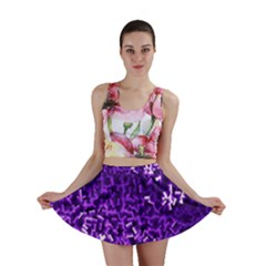 Purple Cubes Mini Skirts