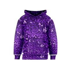 Purple Cubes Kid s Pullover Hoodies