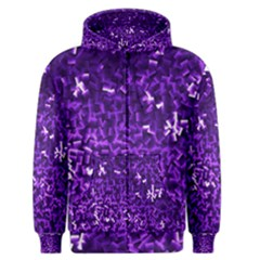Purple Cubes Men s Zipper Hoodies
