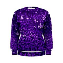 Purple Cubes Women s Sweatshirts