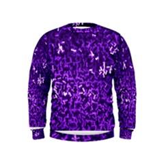 Purple Cubes Boys  Sweatshirts