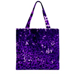 Purple Cubes Zipper Grocery Tote Bags