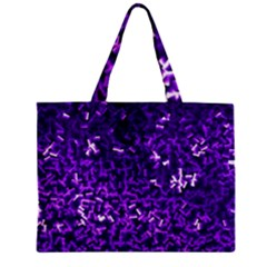 Purple Cubes Zipper Tiny Tote Bags
