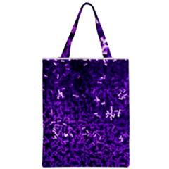 Purple Cubes Zipper Classic Tote Bags