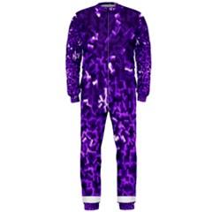 Purple Cubes Onepiece Jumpsuit (men)