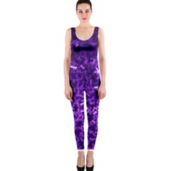 Purple Cubes OnePiece Catsuits
