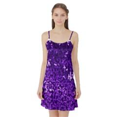 Purple Cubes Satin Night Slip