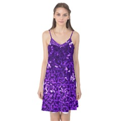 Purple Cubes Camis Nightgown