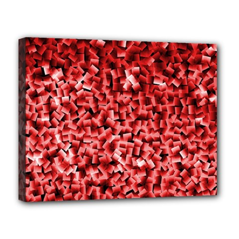 Red Cubes Canvas 14  X 11