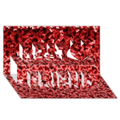 Red Cubes Best Friends 3D Greeting Card (8x4)